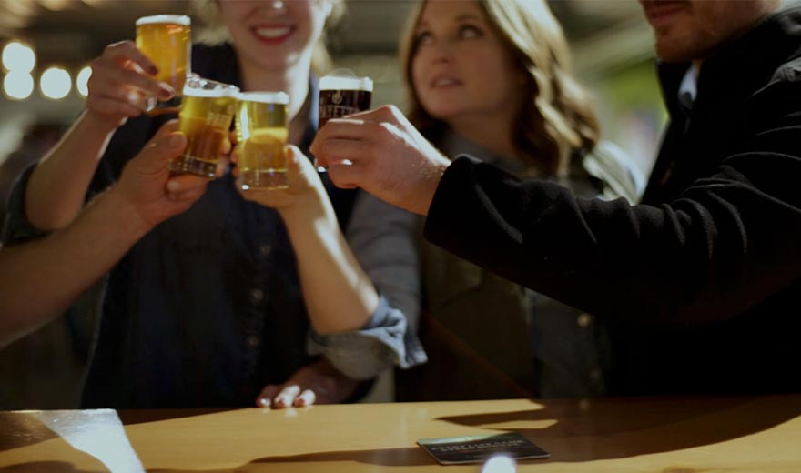 People sampling beer, video thumbnail